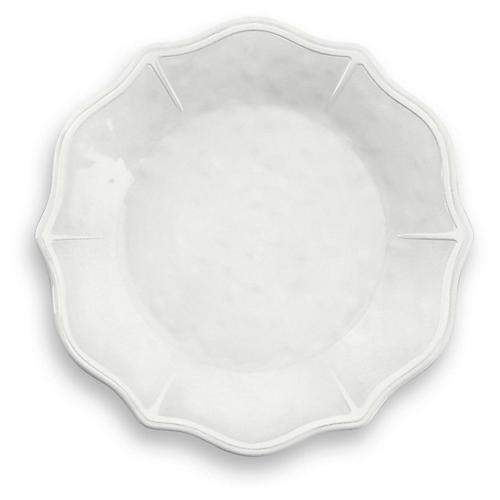 S/6 Savino Melamine Dinner Plates, White