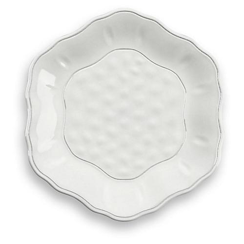 S/12 Savino Melamine Salad Plates, White
