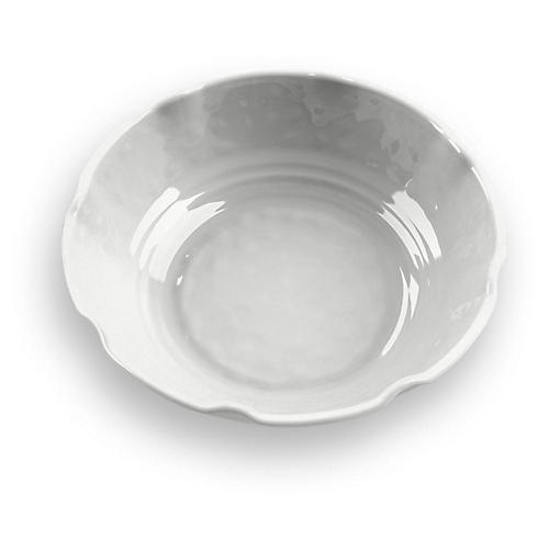 S/6 Savino Melamine Pasta Bowl, White