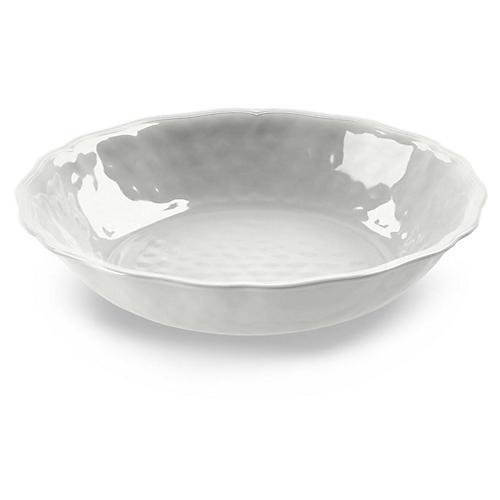 Savino Melamine Serving Bowl, White