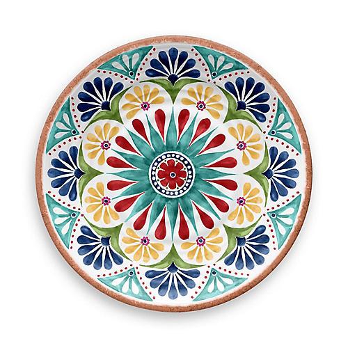S/12 Rio Melamine Dinner Plates, Blue