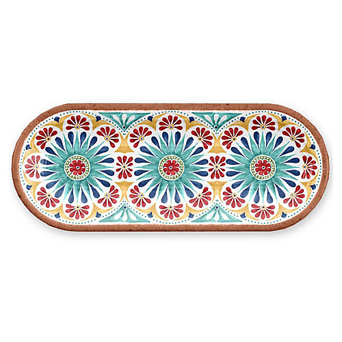 Rio Melamine Serving Tray, Red