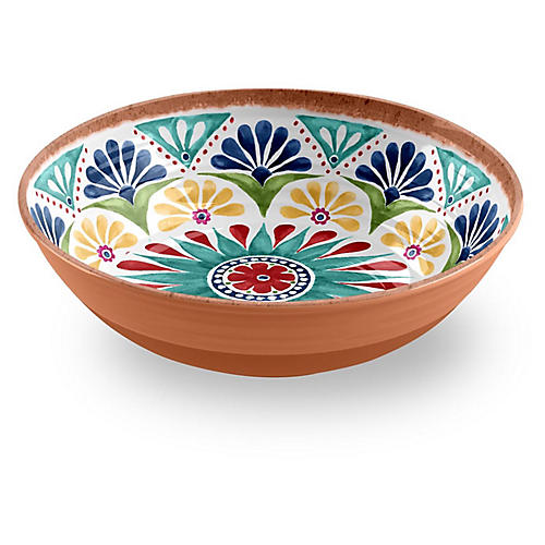 Rio Melamine Serving Bowl, Tan