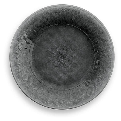 S/6 Potters Melamine Salad Plates, Gray