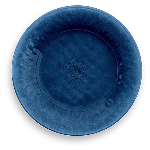 S/6 Potters Melamine Salad Plates, Indigo