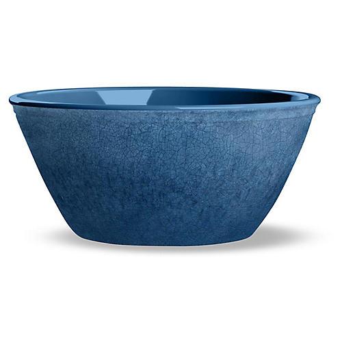 S/6 Potters Melamine Bowls, Indigo