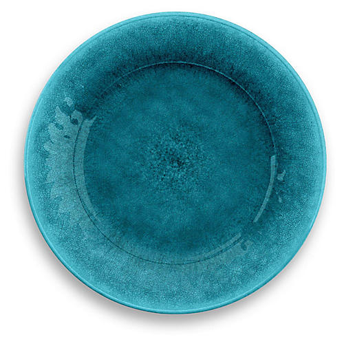 S/6 Potters Melamine Dinner Plates, Teal