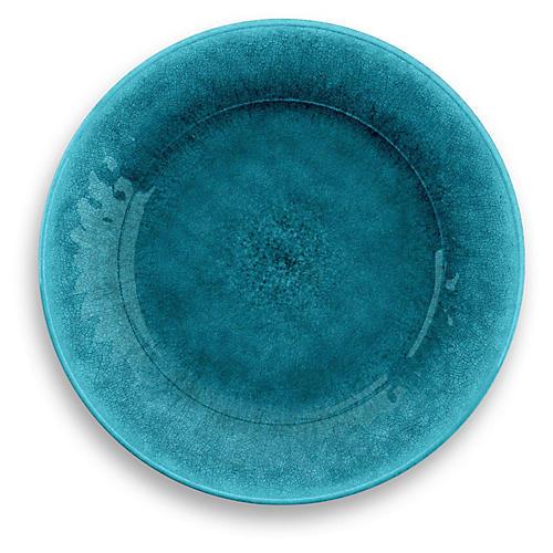 S/6 Potters Melamine Dinner Plates, Teal