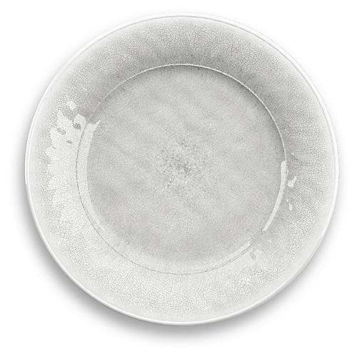 S/6 Potters Melamine Dinner Plates, White