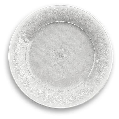 S/6 Potters Melamine Dinner Plates, White
