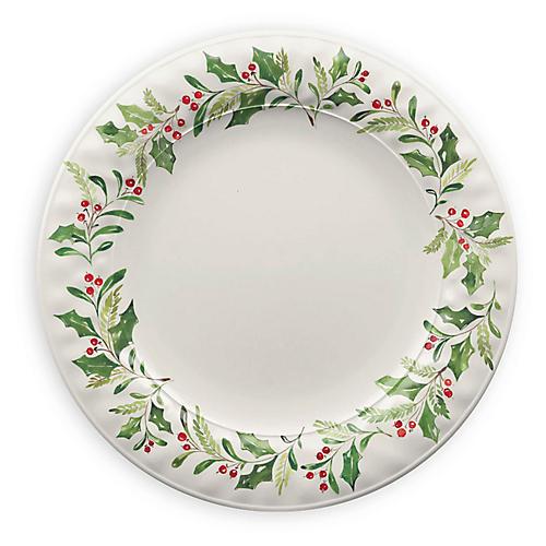 S/6 Mercer Dinner Plates, Cream/Multi