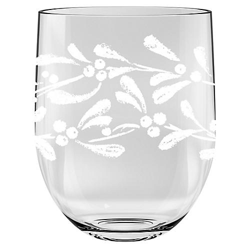 S/6 Peddler Stemless Wineglasses, Clear