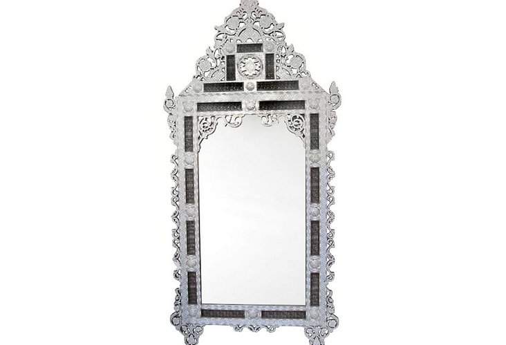 Grand Vintage Syrian Inlaid Mirror