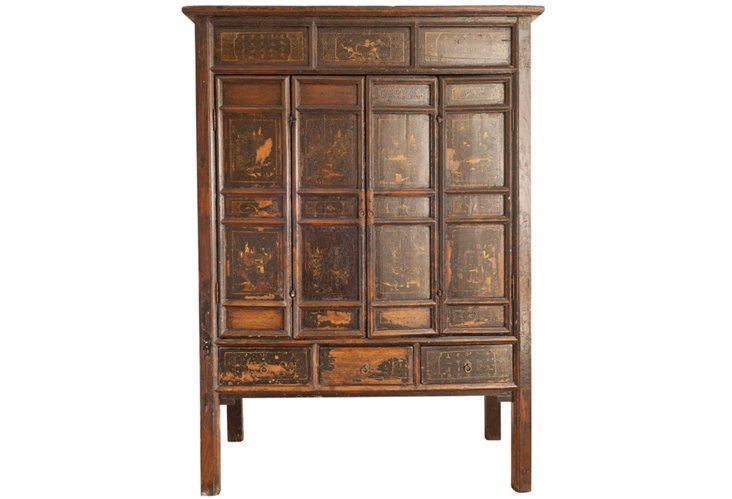 Antique Chinoiserie Asian Cabinet
