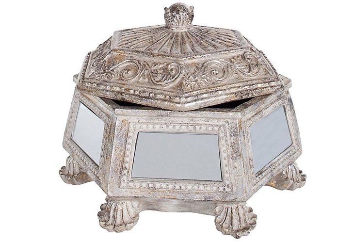 Silver & Mirror Jewelry Box