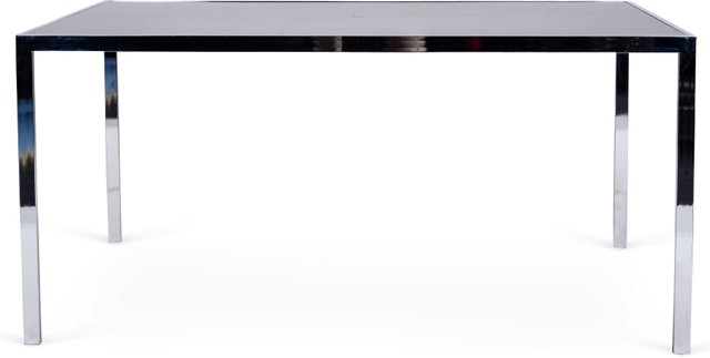 Ebony & Chrome Desk