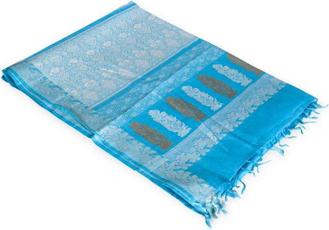 Blue Silk Sari