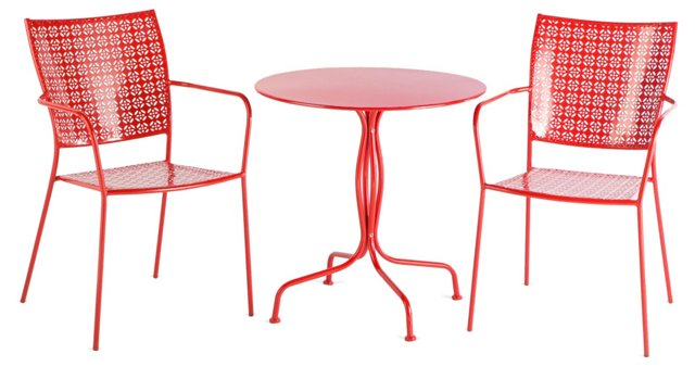 Red Martini Bistro Set