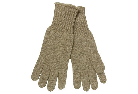 Cashmere Gloves, Taupe