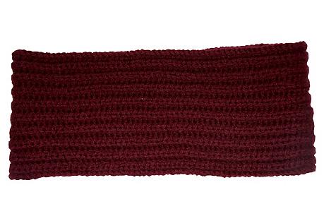 Cashmere Headband, Burgundy