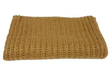 Rib-Knit Scarf, Tobacco