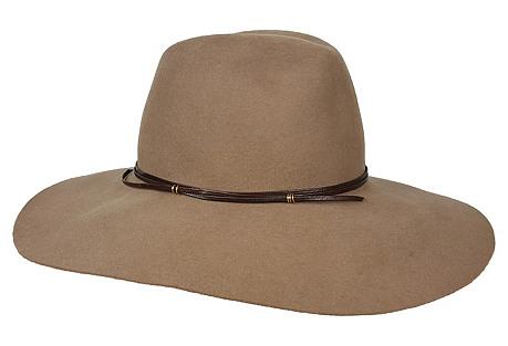 Taylor Hat, Taupe/Chocolate