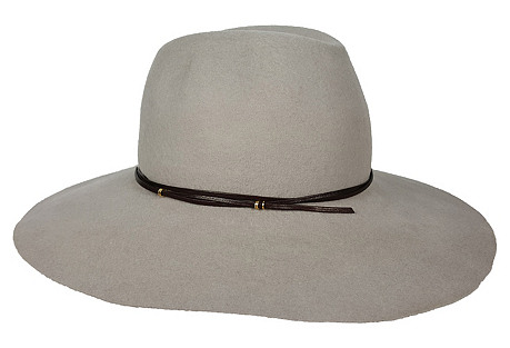 Taylor Hat, Gray/Chocolate