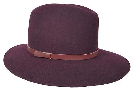 Original Medium-Brim Hat, Burgundy