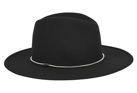 Chelsea Hat, Black/Silver