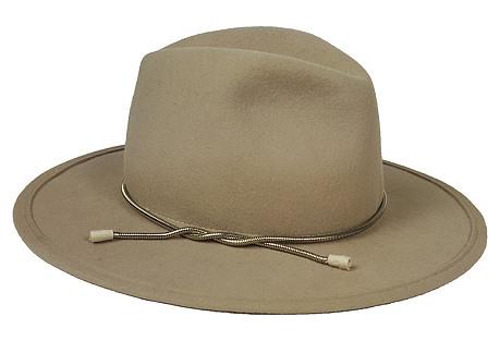 Chelsea Hat, Beige/Silver