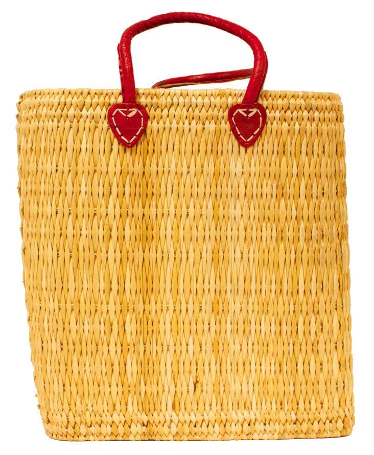 Tigmi Shopper Tote, Red