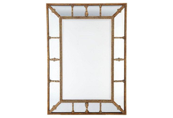 Gilded Beaded Mirror