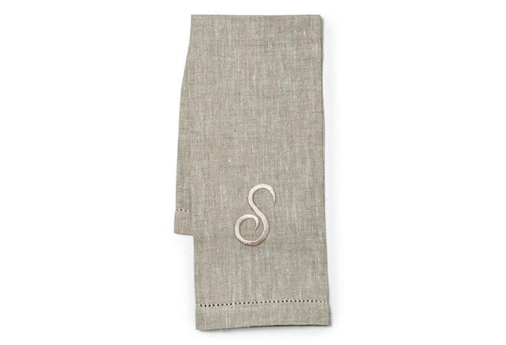 Monogram Atlas Guest Towel, Natural