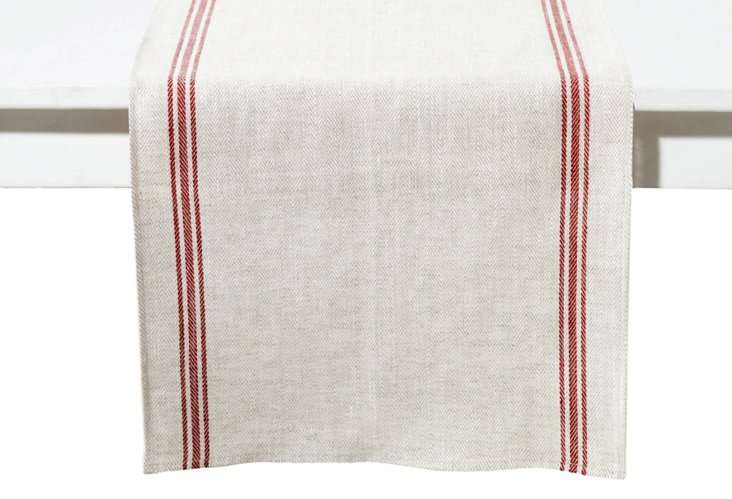 Luke Table Runner, Red