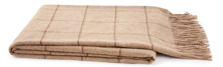 Toronto Alpaca-Blended Throw, Natural