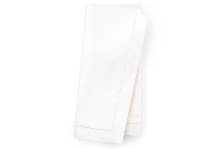 S/4 Atlas Napkins, White