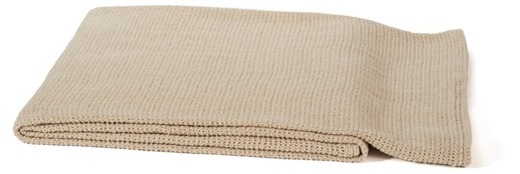 Helsinki Cotton Throw, Champagne