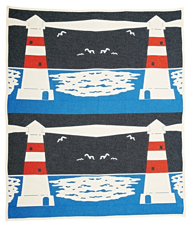 Lighthouse Cotton Throw, Multi