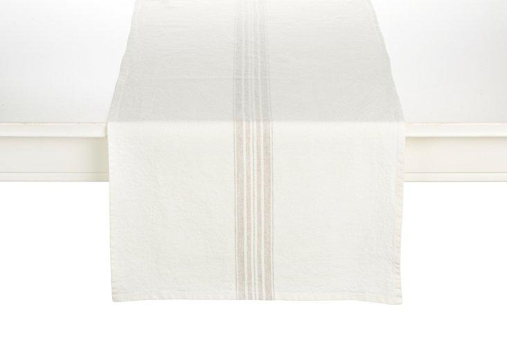 Maison Table Runner, White