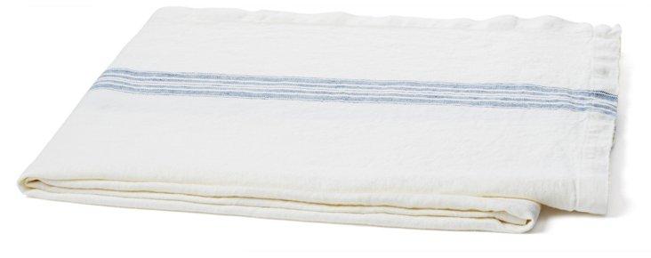 Maison Linen Throw, White
