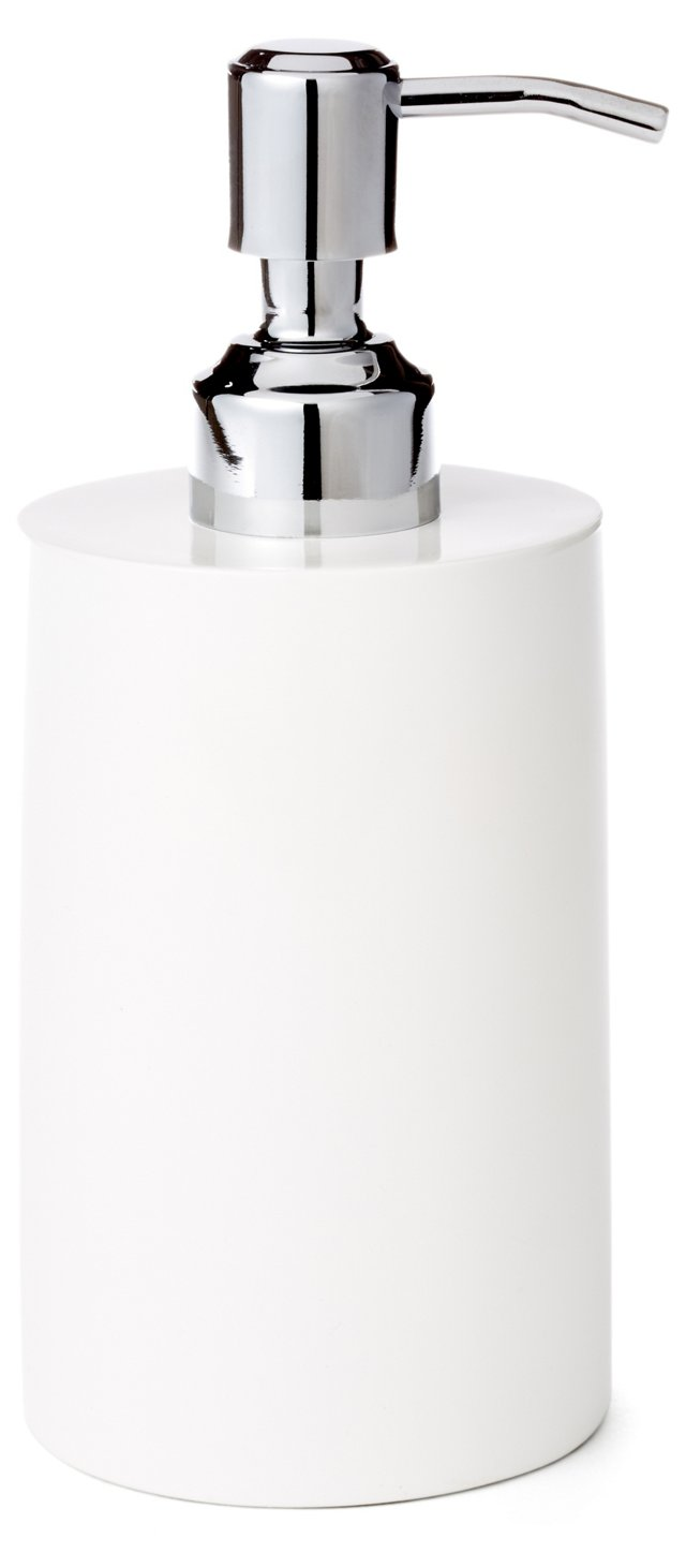 Classic Lacquer Soap Pump, White
