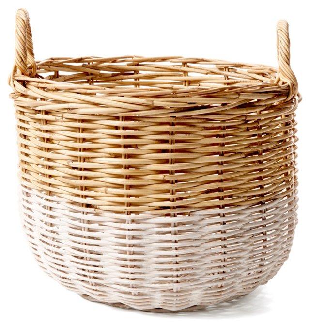 Medium Orchard Basket, White/Natural