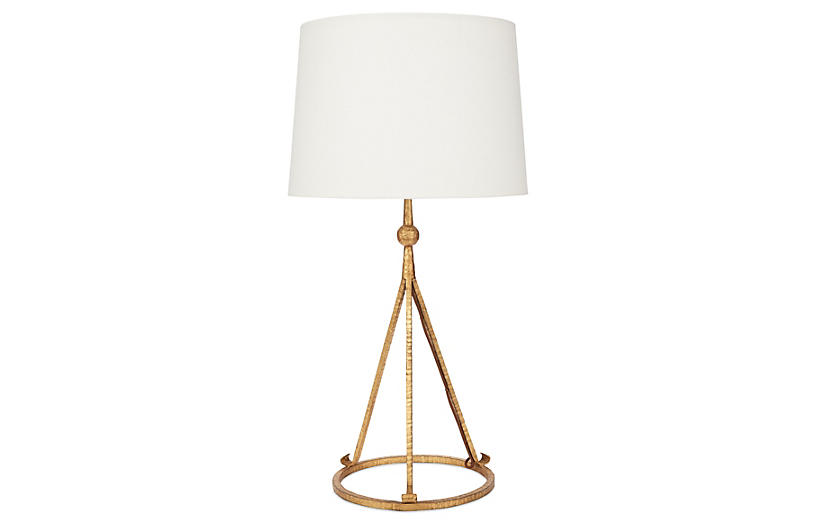 Celia Tripod Table Lamp - Gold