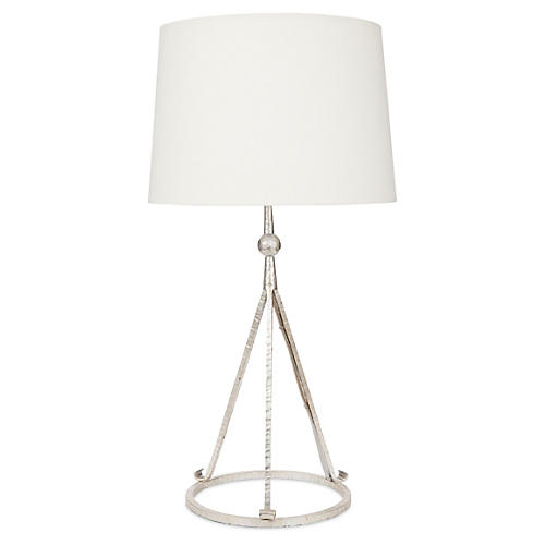 Celia Tripod Table Lamp, Silver