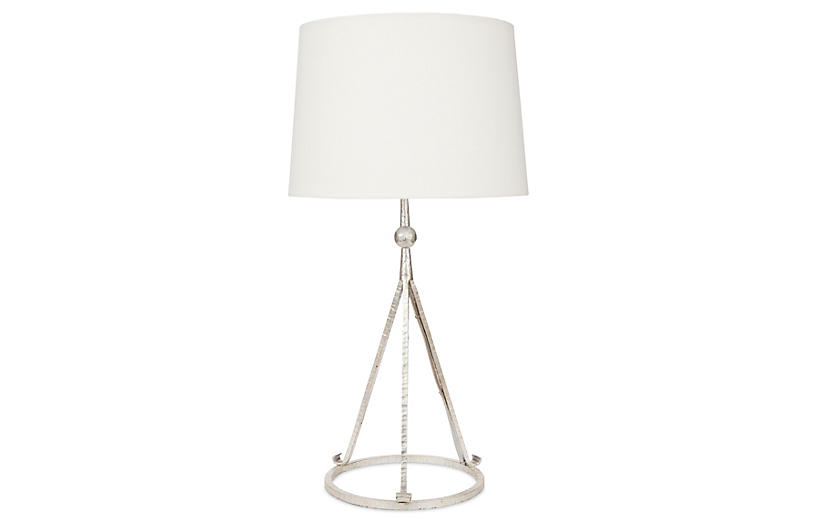 Celia Tripod Table Lamp - Silver