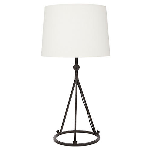 Celia Tripod Table Lamp, Black
