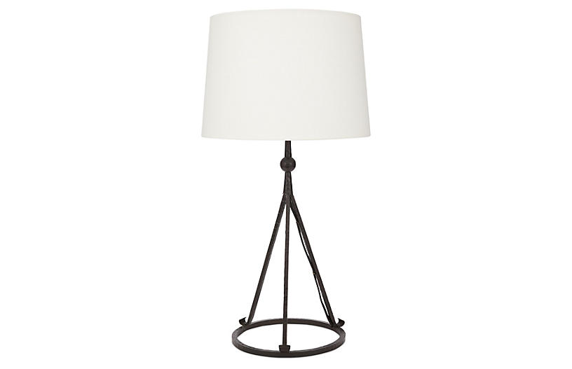 Celia Tripod Table Lamp, Black