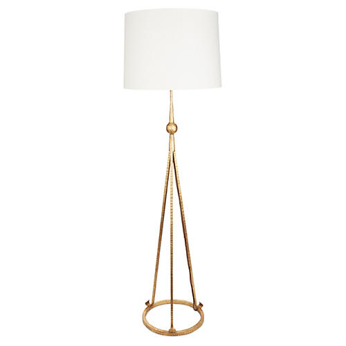 Celia Tripod Floor Lamp, Gold