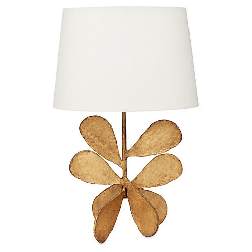 Jane Petal Table Lamp, Gold