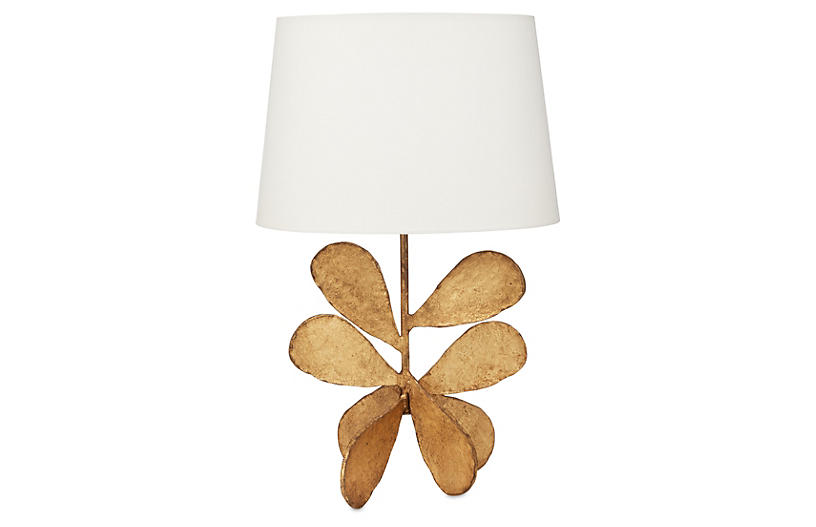 Jane Petal Table Lamp - Gold